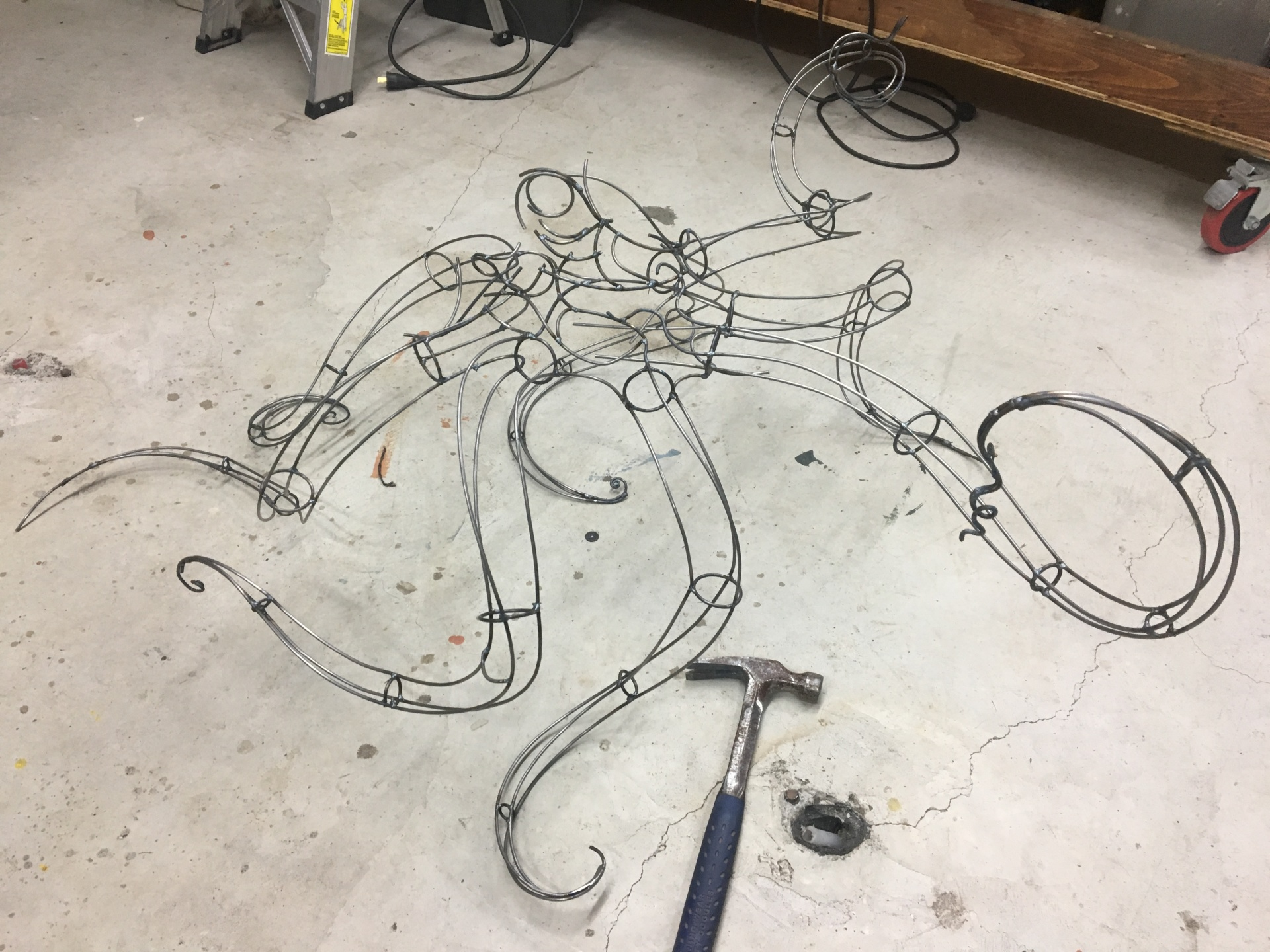 Octopus sculpture start