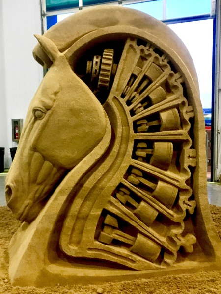 Sand Sculptures by Rusty Croft, Carmel California